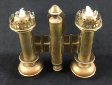 Lot 1052: Brass Wall Candelabra