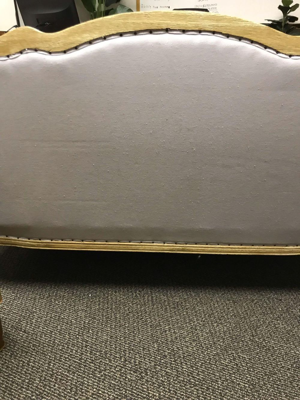 Lot 1053: French Provincial English Pine Gray Settee