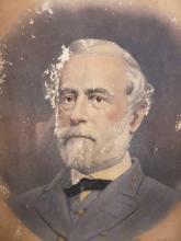 Lot 1056: Framed Engraved Portrait of Robert E Lee