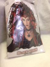 Lot 1057: NOS-Halloween Wig-Black Widow Goth Girl 2 Electric Boogaloo