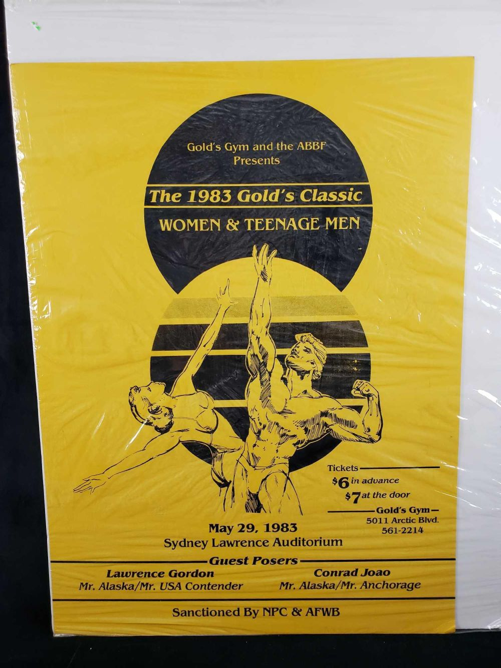 Lot 1058: Golds Gym The 1983 Golds Classic Women and Teenage Men Poster