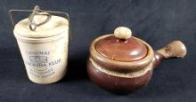 Lot 1061: Lot of 2 Covered Ceramic Pots
