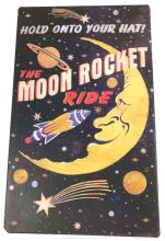 Lot 1062: NOS - Vintage-Style Signage - Moon Rocket Ride