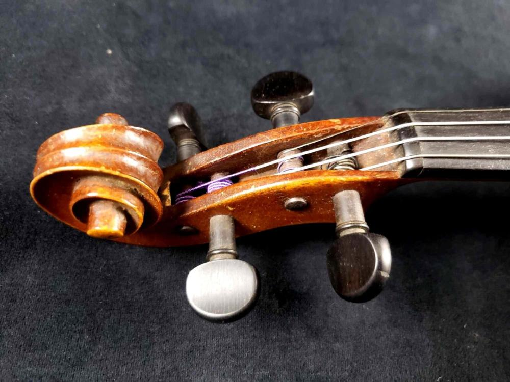 Lot 1063: De Stalo or Steiner Style Violin with Extra Strings Bow and Shoulder Rest