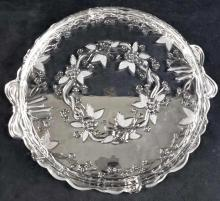 Lot 1064: Mikasa West German Walther Crystal Pie Serving Tray