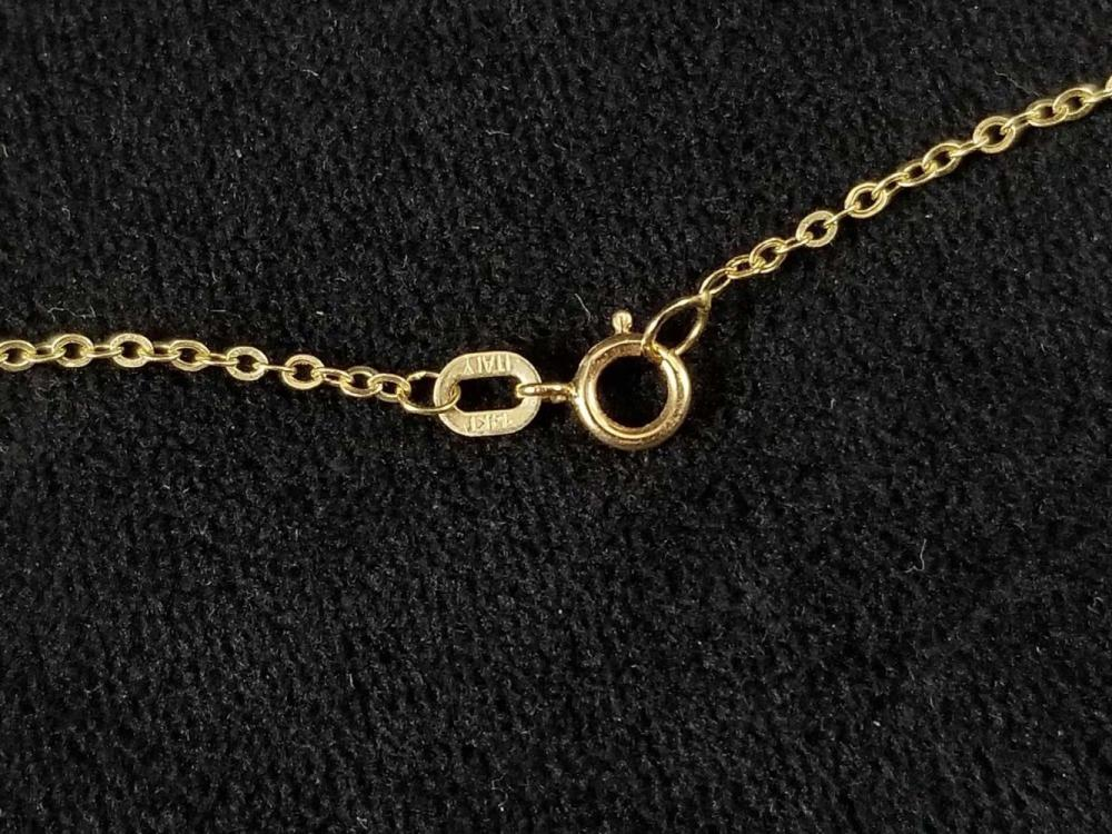 Lot 1070: 14K Druzy Gemstone Necklace
