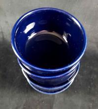 Lot 1073: Set of 4 Cobalt Blue Homer Laughlin Fiesta Ware Soup Bowls