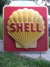 Lot 1087: 1975 Shell Advertising Sign, Shell Oil Company