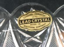 Lot 1089: Genuine Handcut Lead Crystal Made in Western Germany Pedestal Candy or Nut Dish