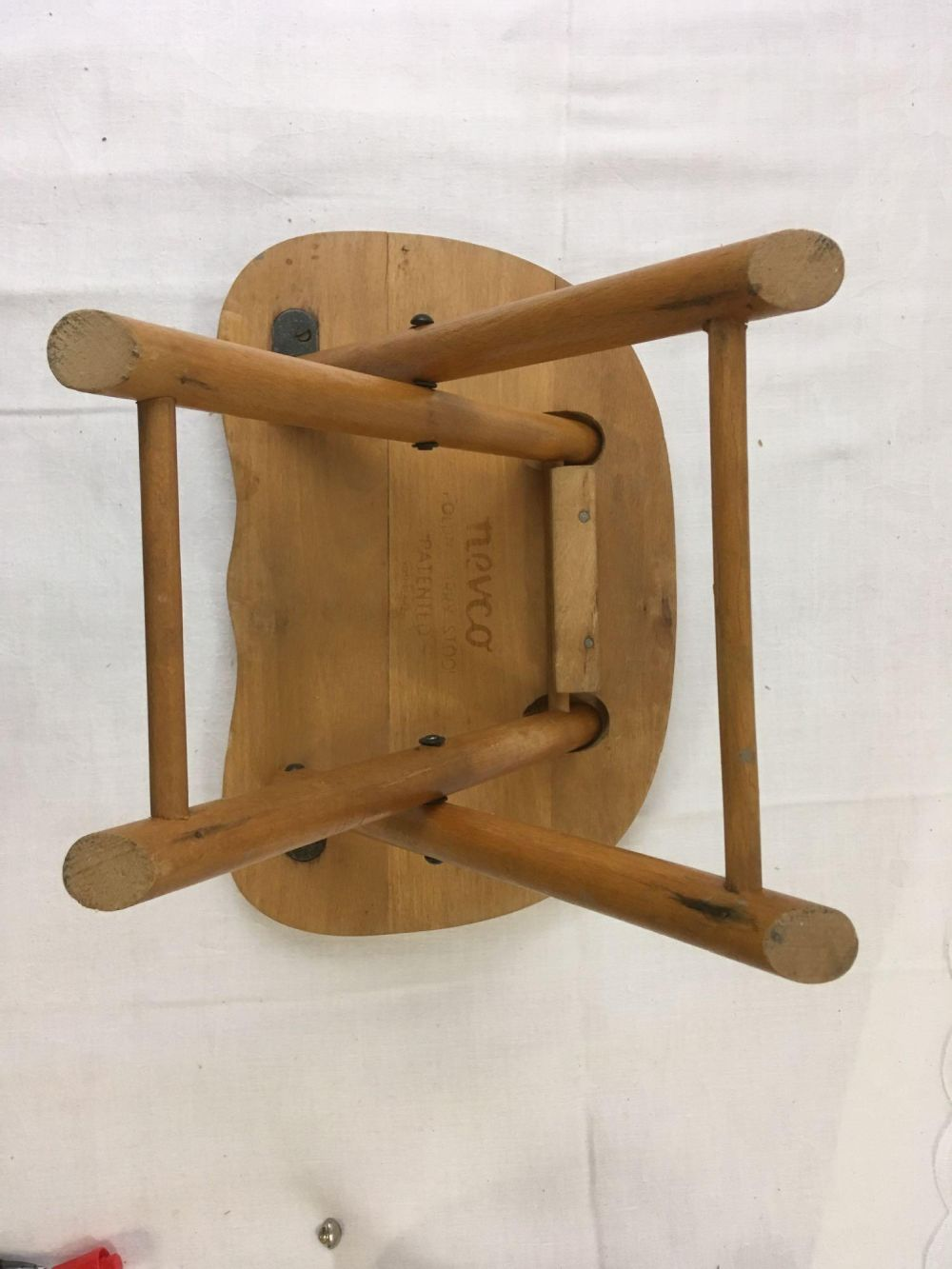 Lot 1093: Vintage Nevco Fold And Carry Stool