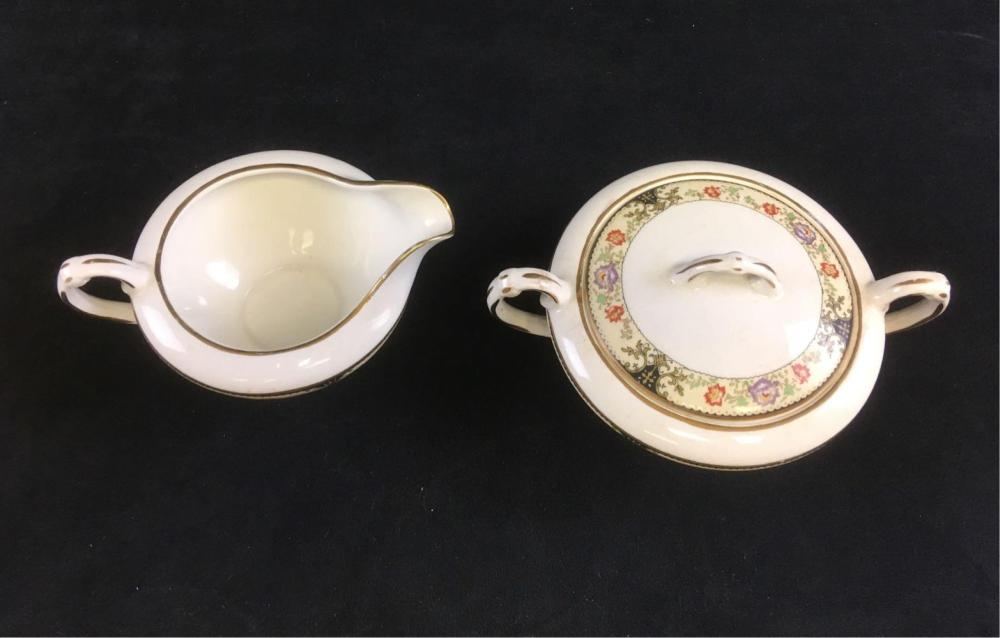 Lot 1096: Vintage Crown Potteries Co Porcelain Set