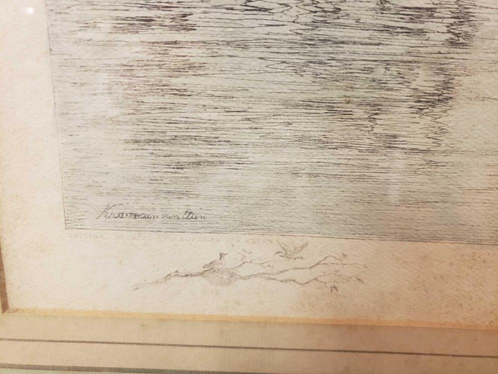 Lot 1099: Kruseman Van Elten Summer Morning Handcolored Engraving by Marad Wall-Decor Corp.