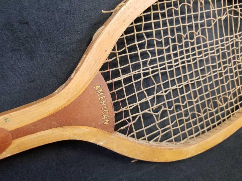 Lot 869: Early 1900s American Ashland Quality Line Wooden Tennis Rackett