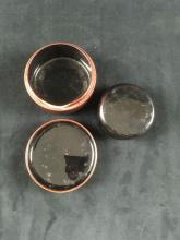Lot 890: Vintage Set of 6 Japanese Lacquer ware Tea Coasters in Lacquer ware Box