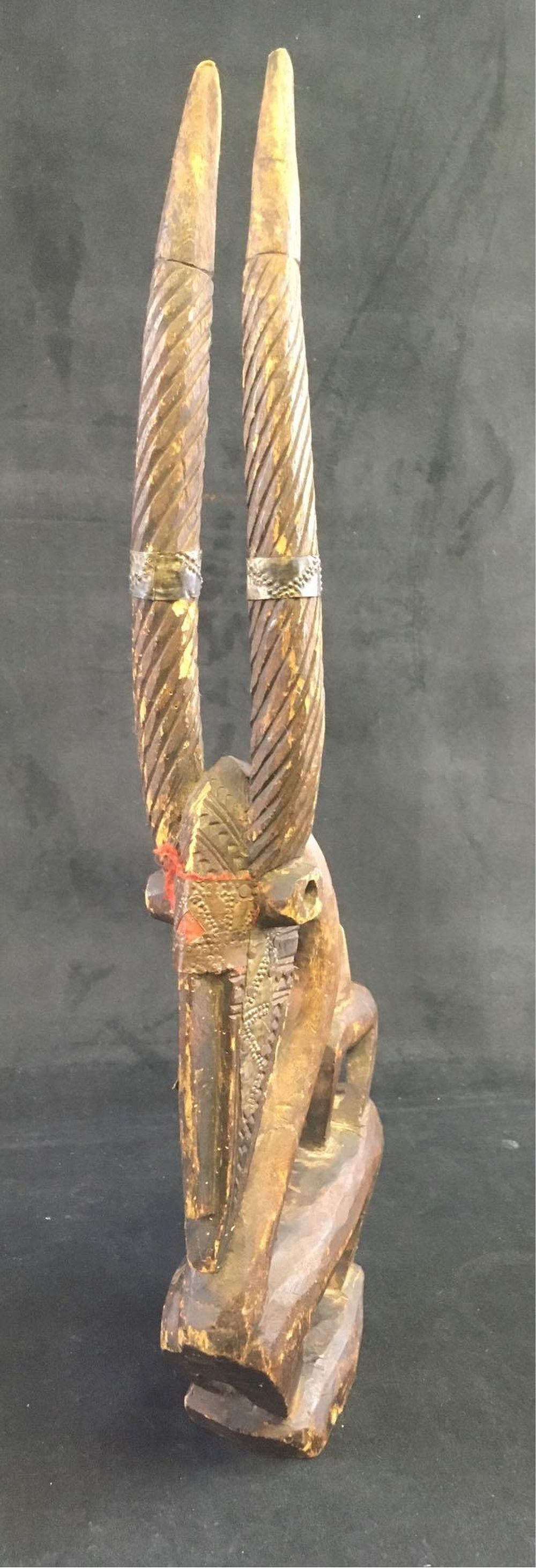 Lot 892: Antique African Culture Chi Wawa Mask Effigy Carving Mali