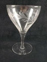 Lot 903: Set of 19 Apertif Cut and Etched Glassware