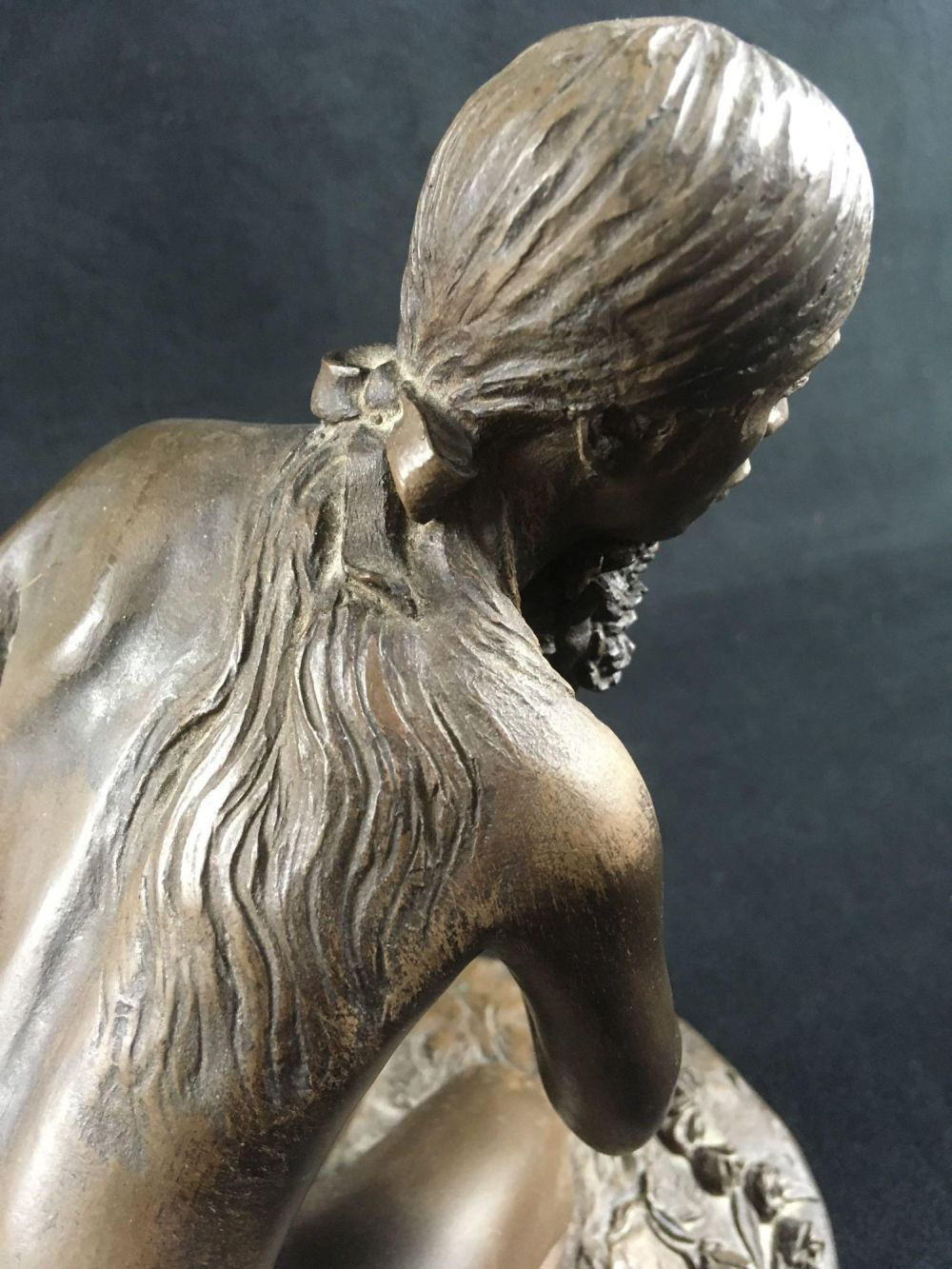 Lot 915: Original Michael Stelzer Kneeling Nude Bronze Sculpture
