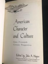 Lot 919: American Character and Culture 1964 Hardcover Edition