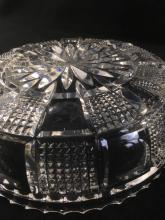 Lot 926: Vintage Cut Crystal Serving Dish Set