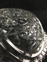 Lot 928: Two Molded Glass Geometric Pattern Bowls