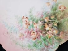 Lot 931: Limoges Scalloped Edge Floral Platter