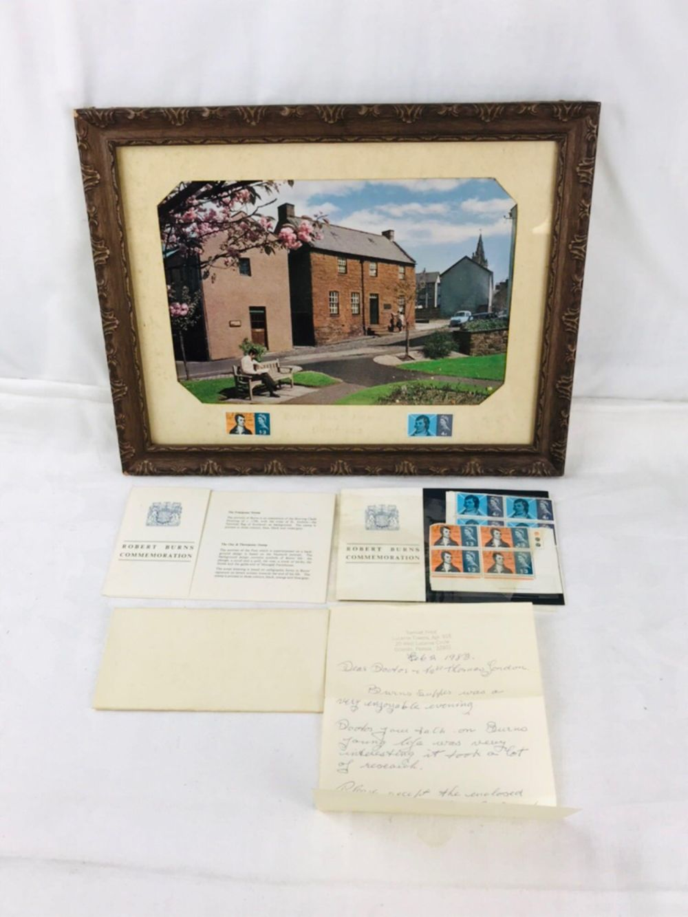 Lot 939: Robert Burns Stamp and Picture Set