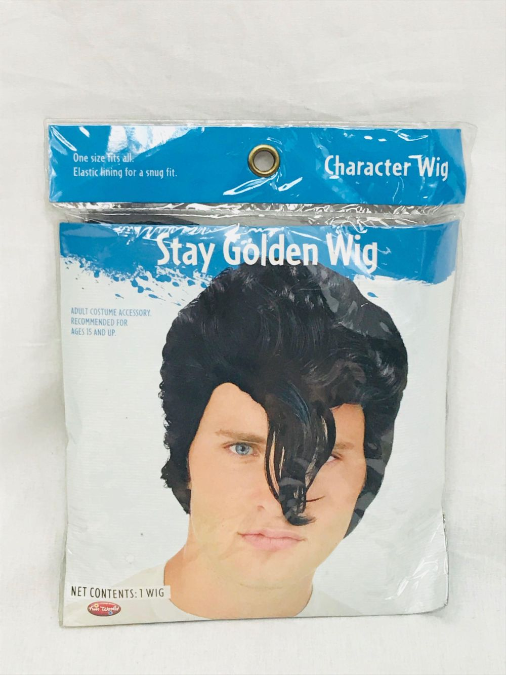 Lot 951: NOS Halloween Wig - Stay Golden Pony Boy - Rocker - Adult Size