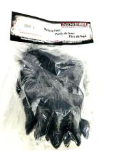 Lot 953: NOS Halloween Costume Accessory Deluxe Wolf Feet Adult Size GREY