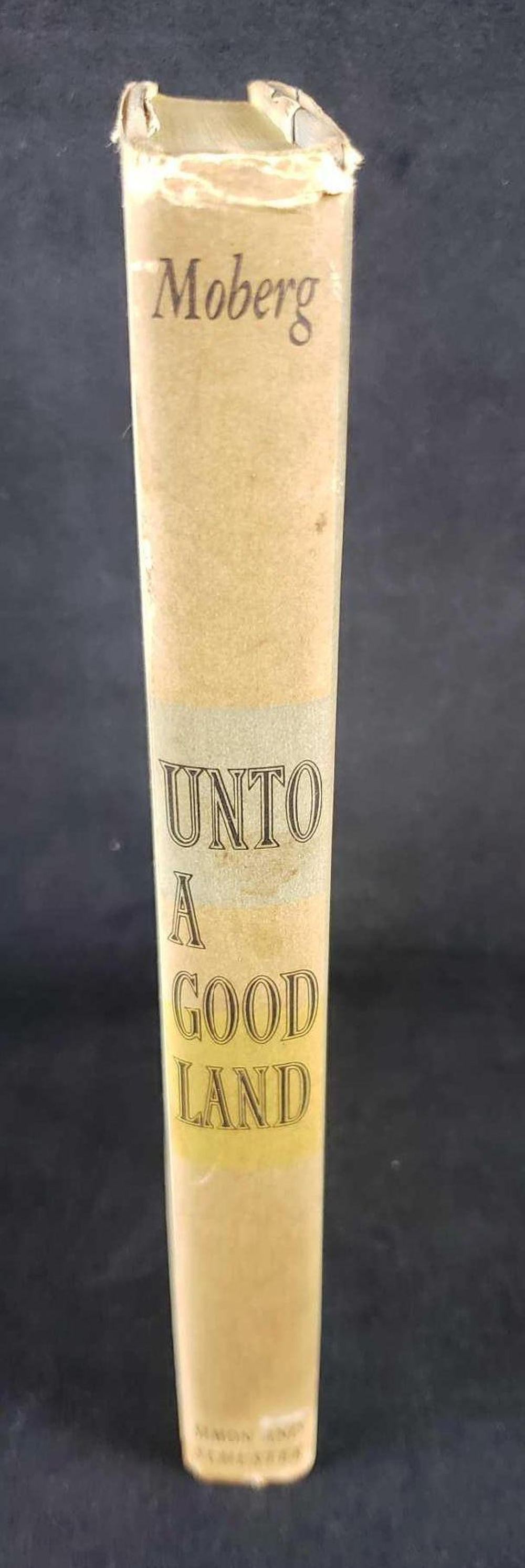 Lot 963: Unto A Good Land by Vilhelm Moberg Copyright 1954 Vintage Hardcover Book