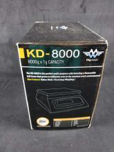 Lot 973: KD 8000 8000g x 1g Capacity MyWeigh Scale