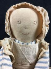 Lot 976: Handmade Folk Art Cloth Heart Doll