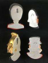 Lot 979: 4 Bossons England Chalkware Heads