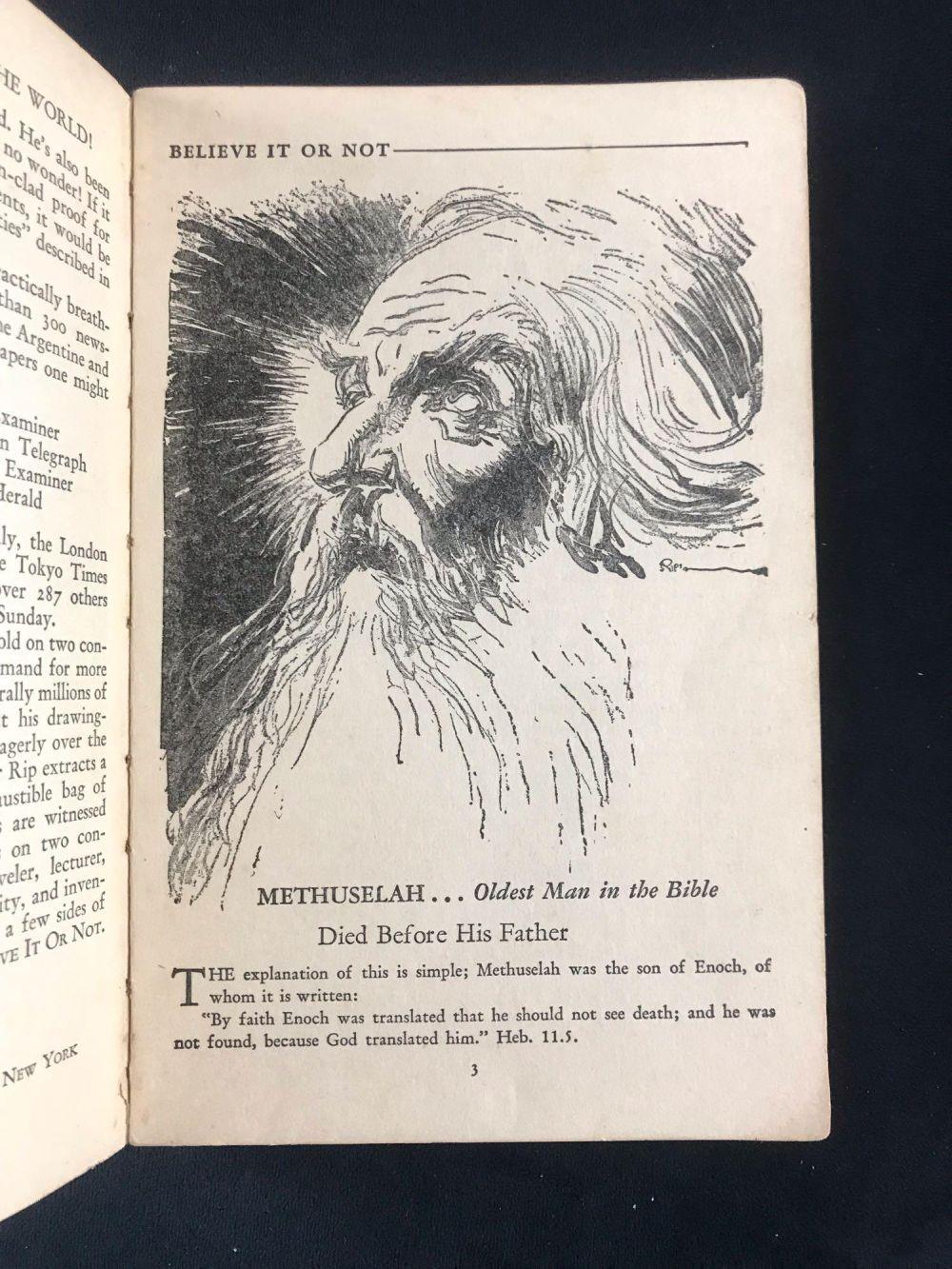 Lot 980: Rare 1929 Ripleys Believe It Or Not Book
