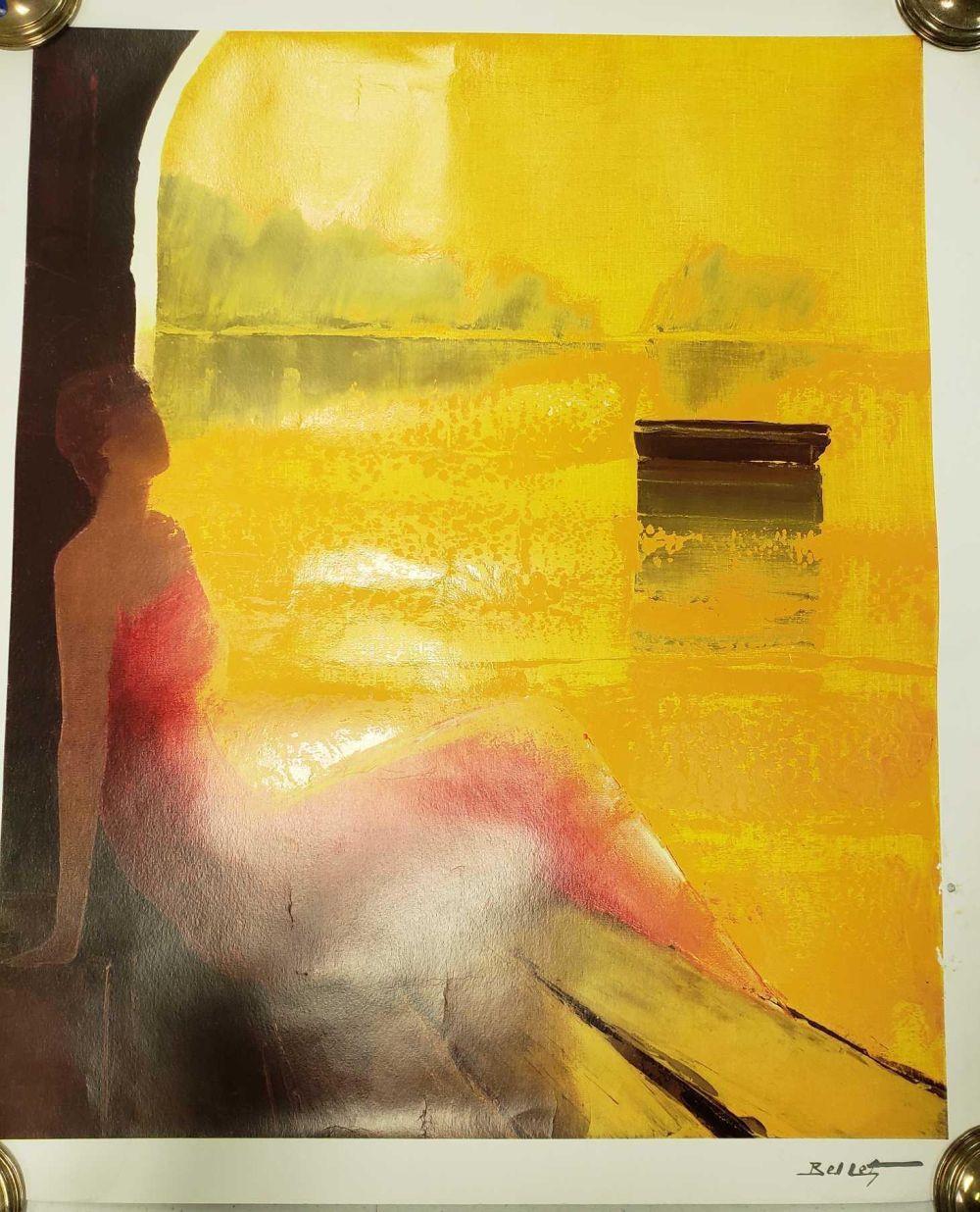 Lot 993: D'or et de Reve by Emile Bellet Poster