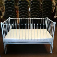 Vintage White Iron Baby Crib