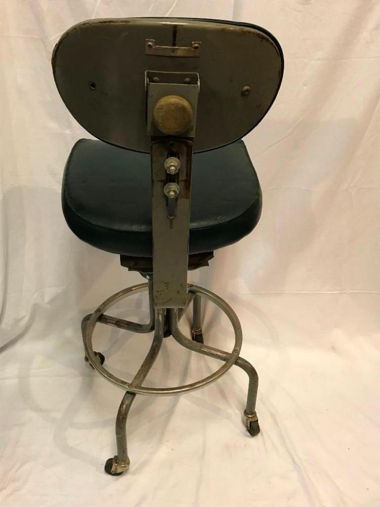 Industrial Royal Metal Tall Stool Bassick Casters