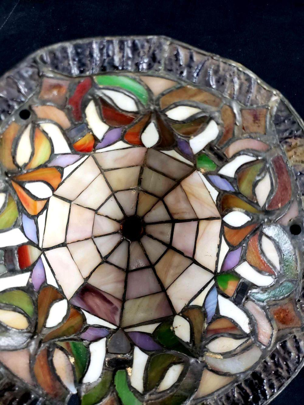 Craftsman Stained Glass Pendant Light Fixture Dome