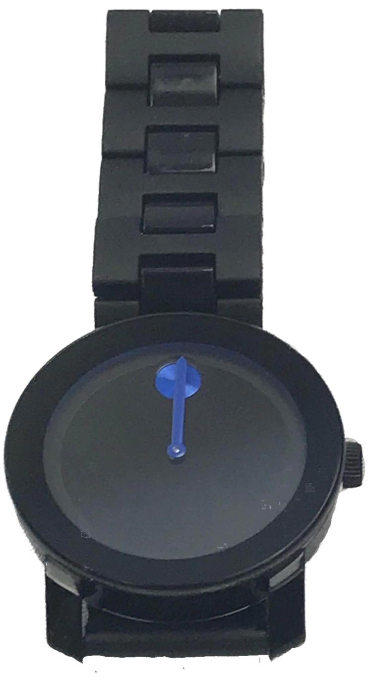 eb9babe18 Movado Bold, Black Dial Blue Accent Stainless Steel Men's Watch