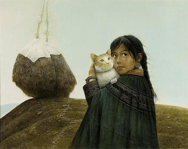 LUO Zhongli (Chinese, b. 1948) Autumn: Girl