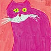 Walasse TING (Chinese-American, 1929 - 2010)  - The Pink Cat
