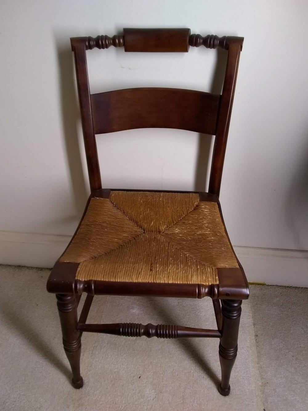 Antique Rush Bottom Hitchcock Chair