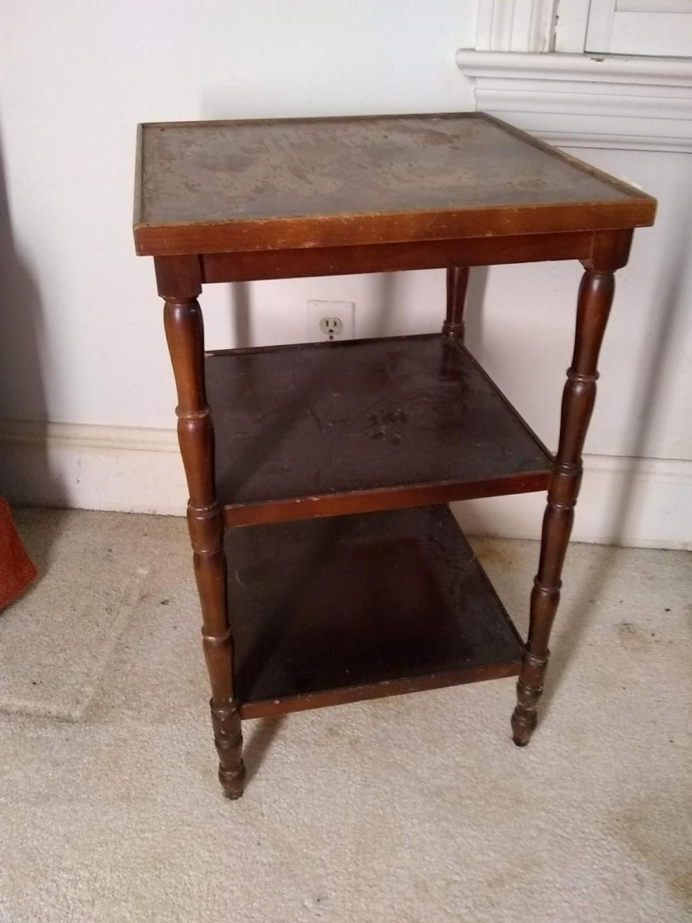 Vintage Mahogany Tiered Table