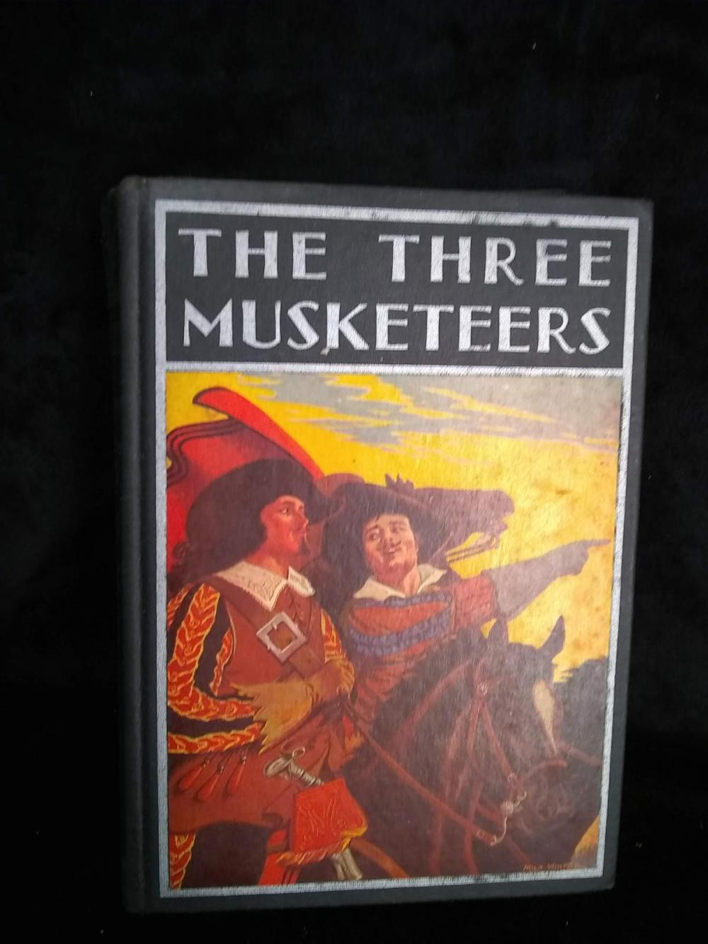 "Vintage Book ""The Three Musketeers"" - 1937 - Alexandre Dumas w/ DJ"