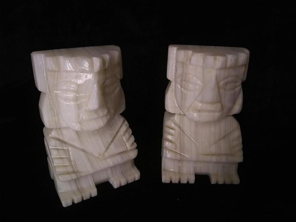 Pair Marble India Bookends