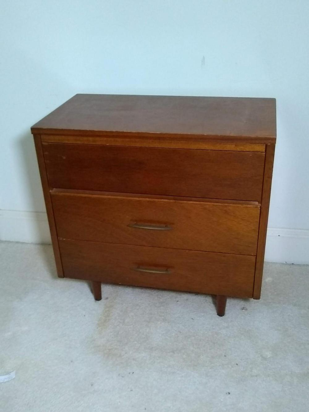 Mid Century Modern Three Drawer Chest
