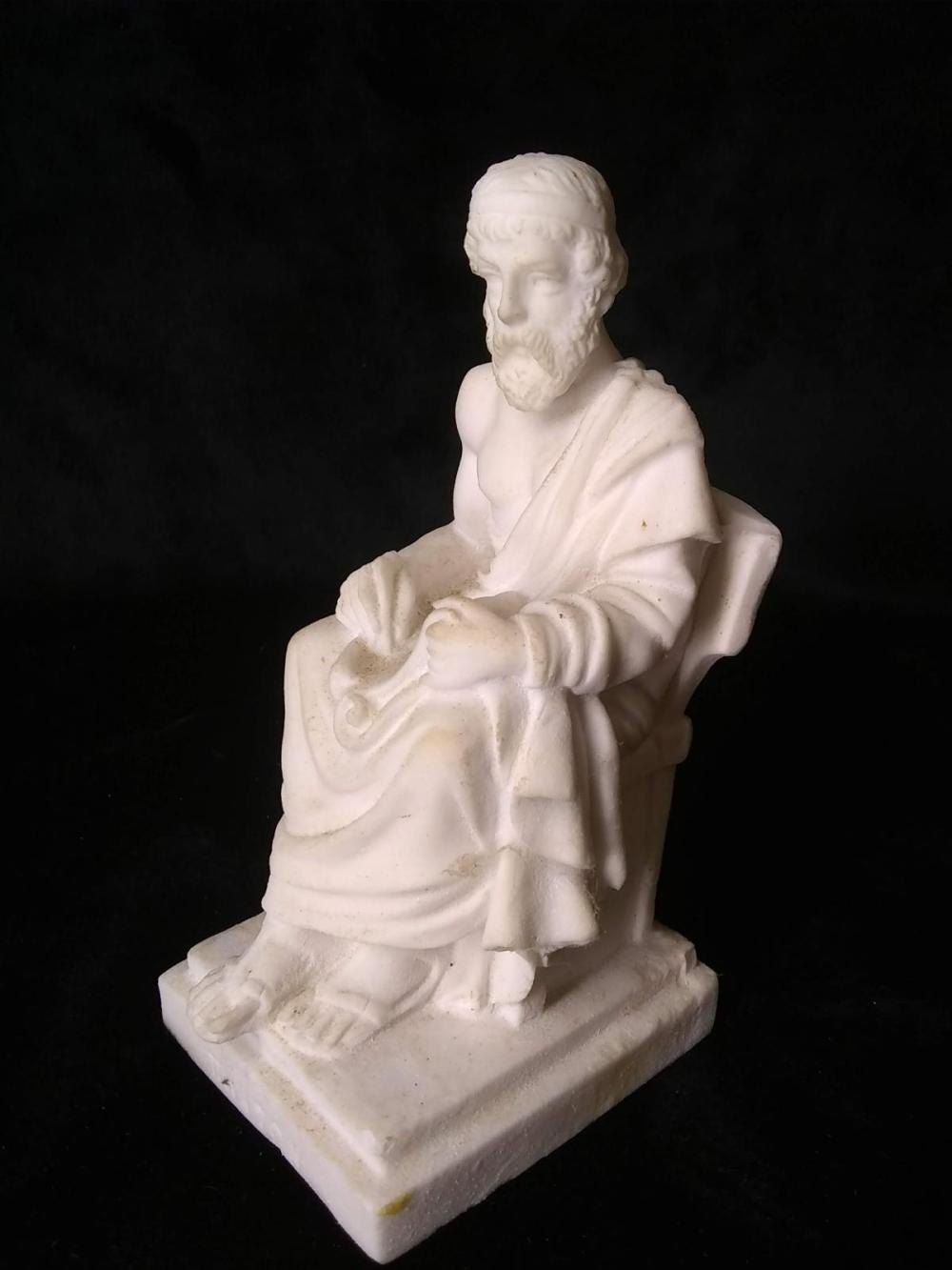Bisque Porcelain Figure Greek Philosopher