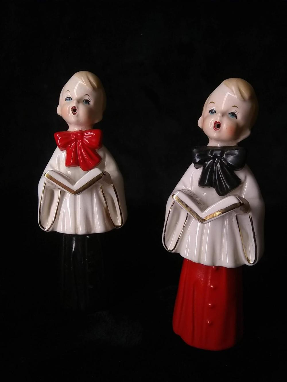 Pair Vintage Japan Choir Boys