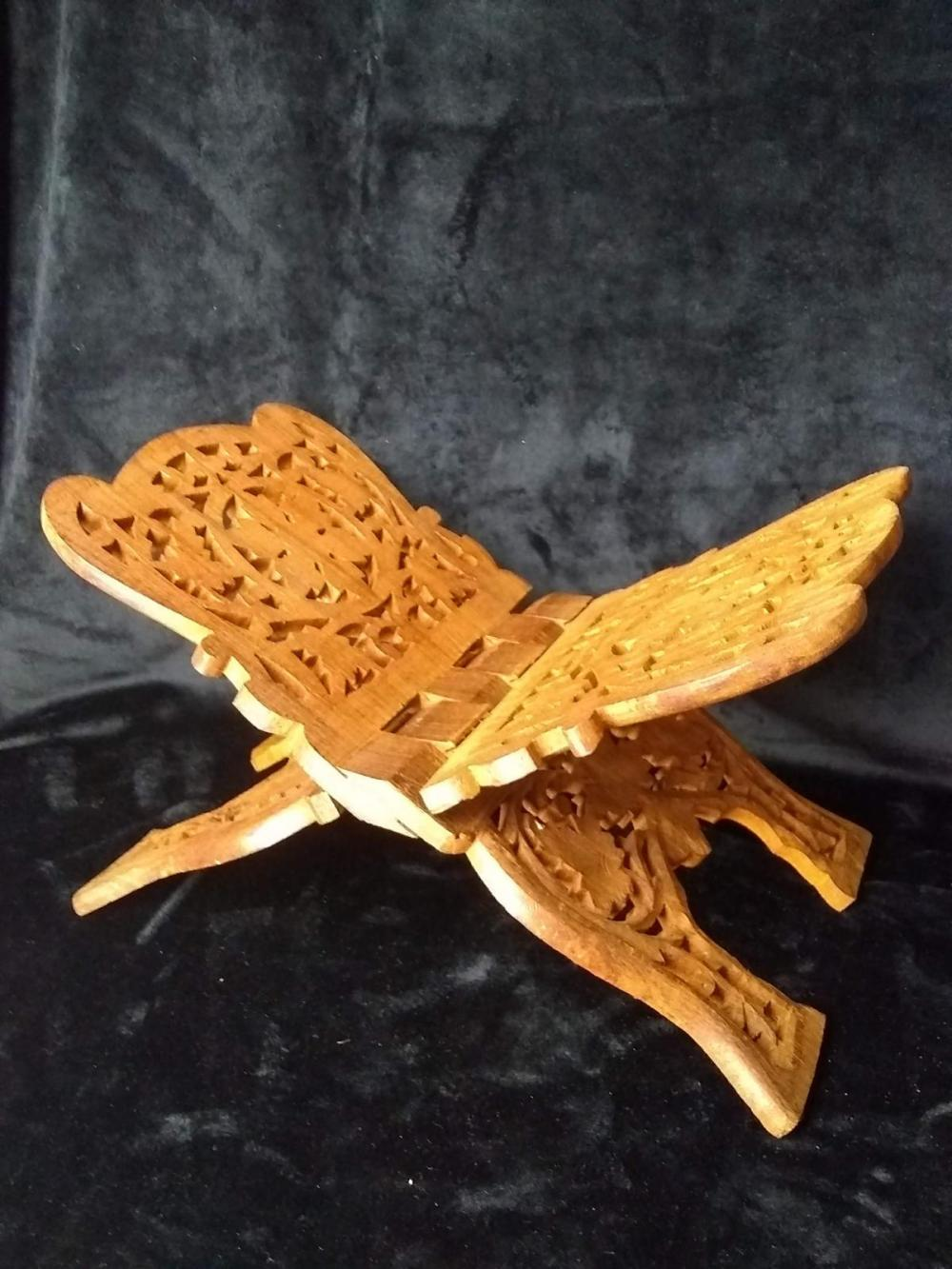 Carved Teak Bookstand