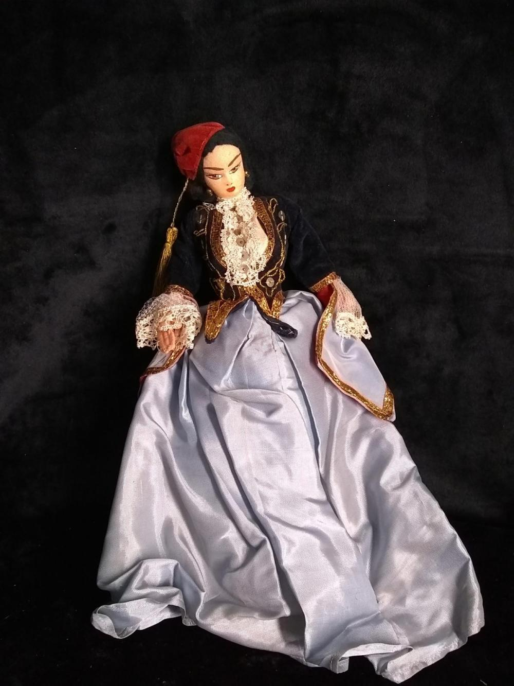 Early Greek Cloth  Doll w/ native outfit - Girl