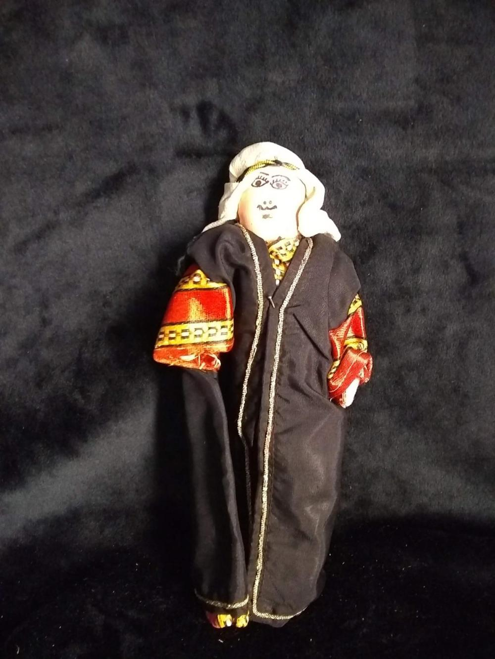 Early Greek Cloth  Doll w/ native outfit - Man w/ Turban